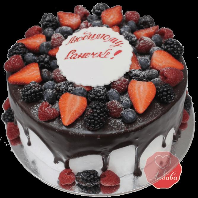 Торт с ягодами №1168