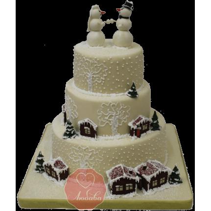 Торт Снеговики №1169