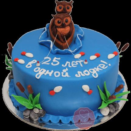 Торт Совы в лодке №1162