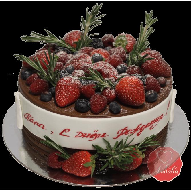 Торт ягодный с клубникой №1166