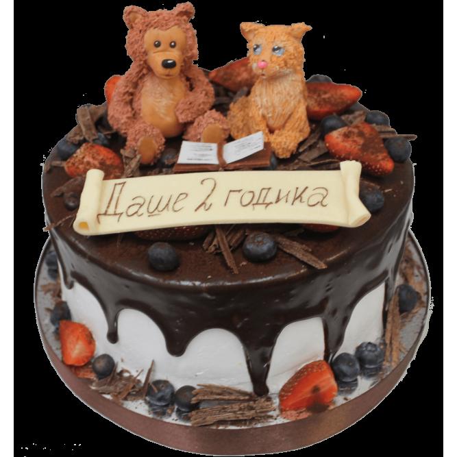 Торт Медведь и лиса за книжкой №1148