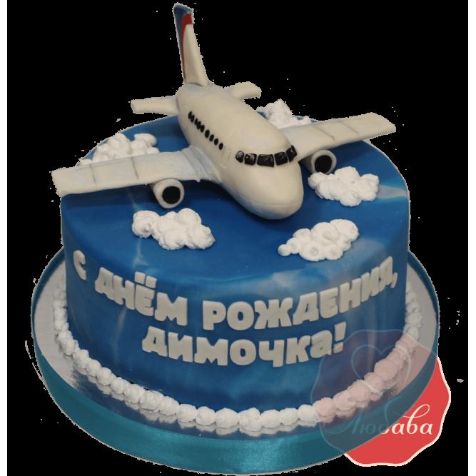 Торт Самолет в облаках №1147