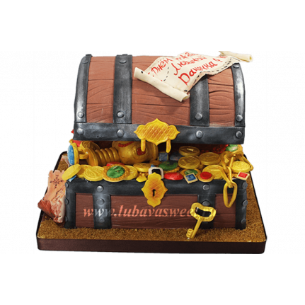 Торт сундук с сокровищами №670