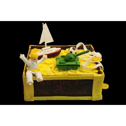 Торт Сундучок с игрушками №417