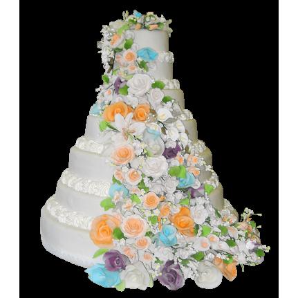 Торт свадебный Водопад №399