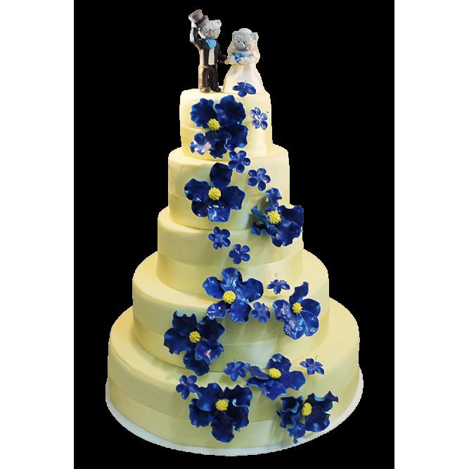 Торт свадебный с мишками №404