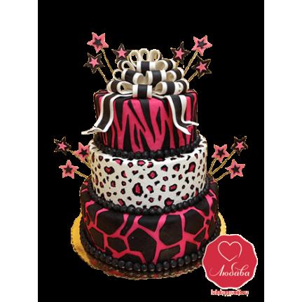 Торт розовый на свадьбу или День рождения №739