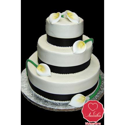 Торт свадебный с каллами №792