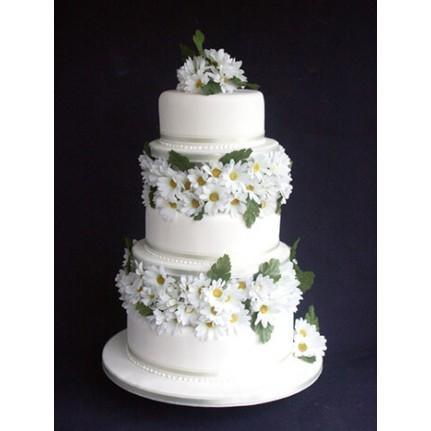 Торт Свадебный с ромашками №790