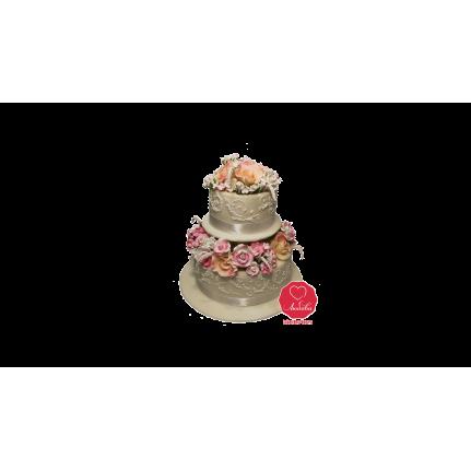 Торт Свадебные цветы №926