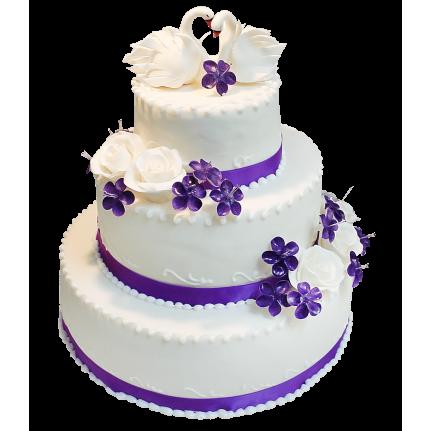 Торт свадебный Лебеди №274