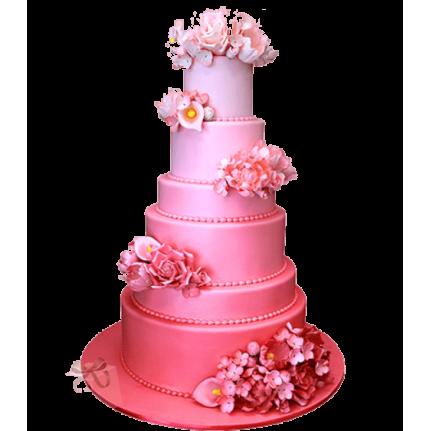 Торт свадебный Розовый №727