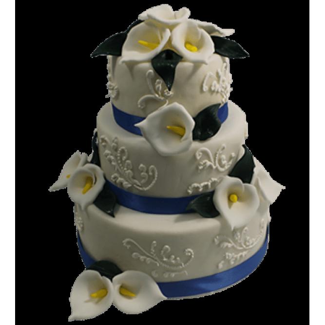 Торт С белыми каллами №516