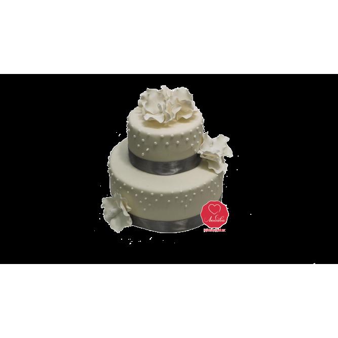 Торт Белые цветы №927