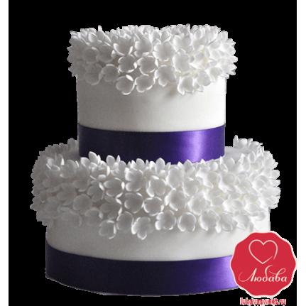 Торт Бело-Фиолетовый №741