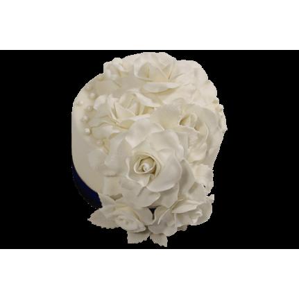 Торт Белые розы-2 №542