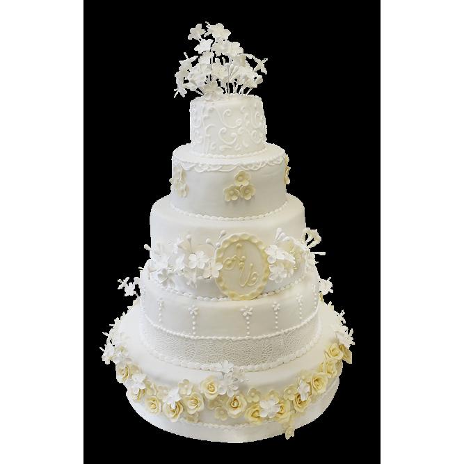 Торт свадебный Белый вальс №291