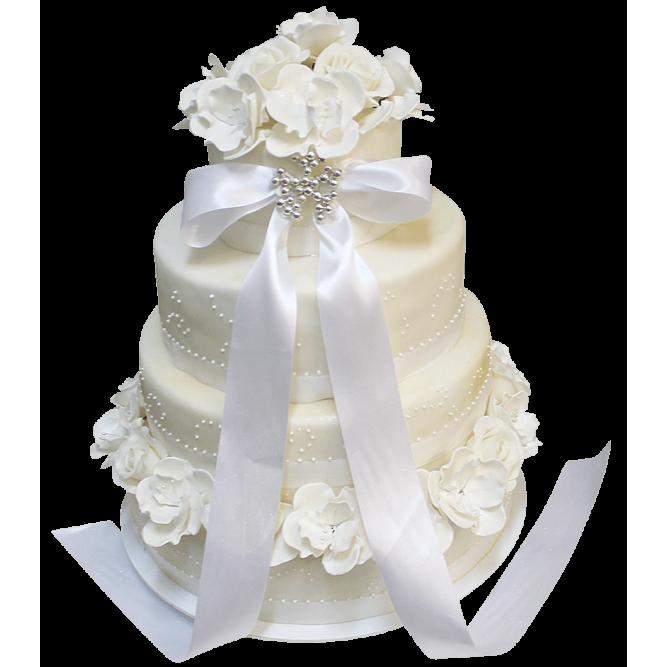 Торт свадебный белый №397