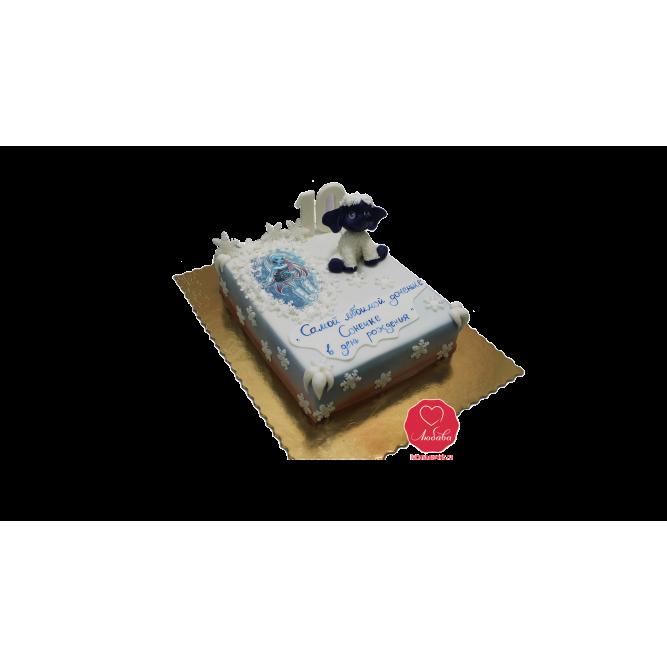Торт Снежный с овечкой №1080