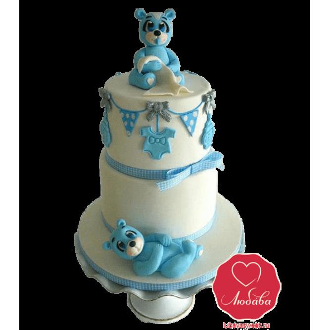 Торт с мишкой для мальчика №824