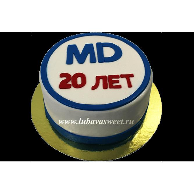 Торт с логотипом компании №638