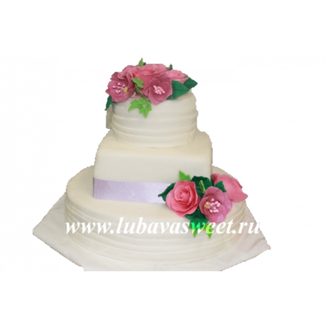 Торт с розами №198
