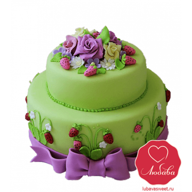 Торт с земляникой №769