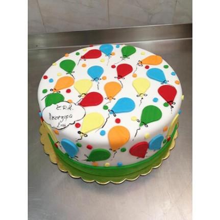 Торт с воздушными шариками №775