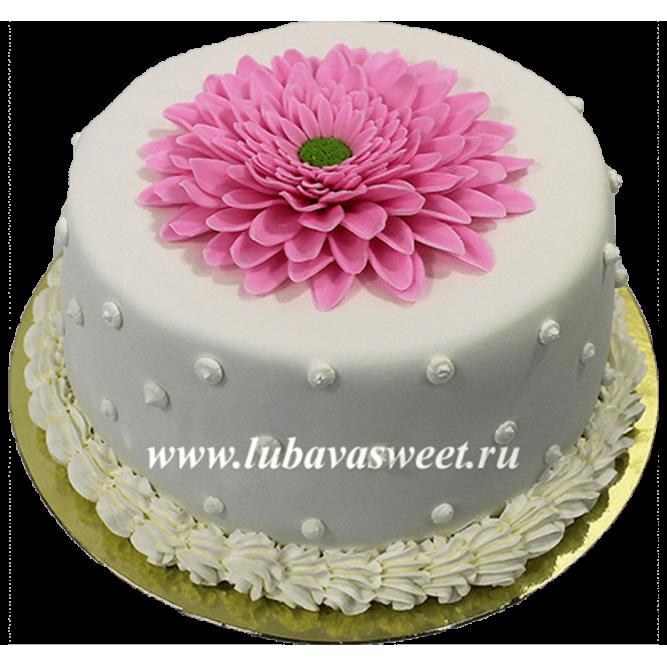 Торт с цветком №668
