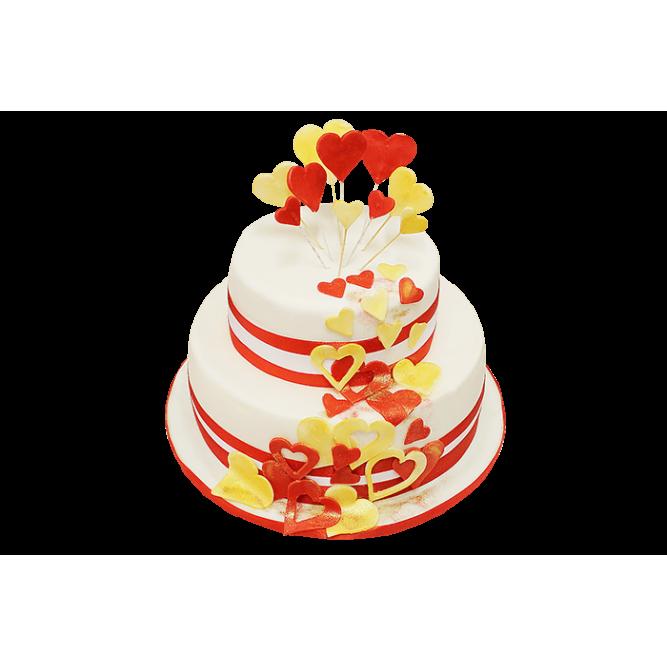 Торт с сердечками №603