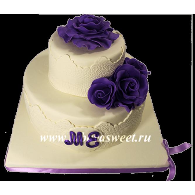 Торт с кружевом №662