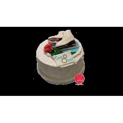 Торт с коньками №1001
