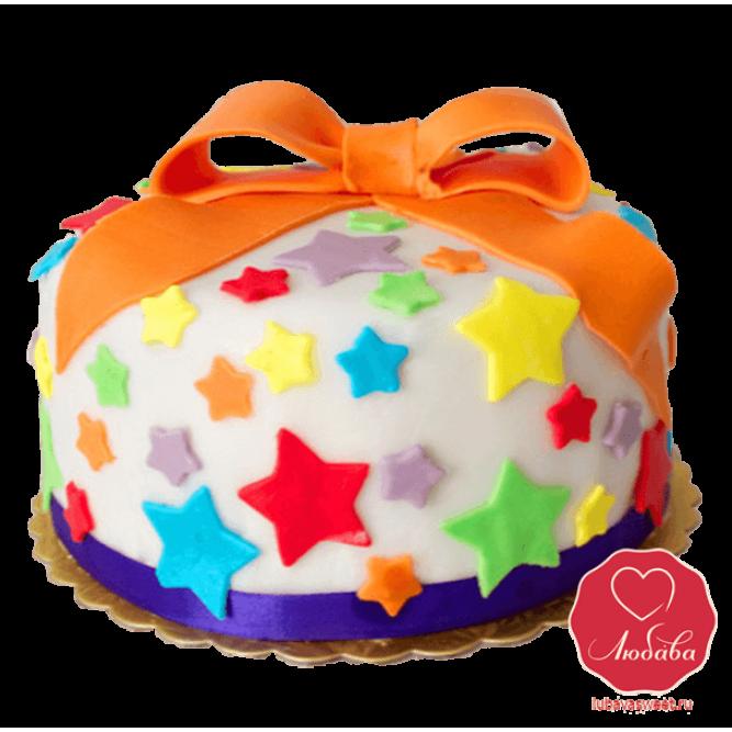 Торт со звездами №840
