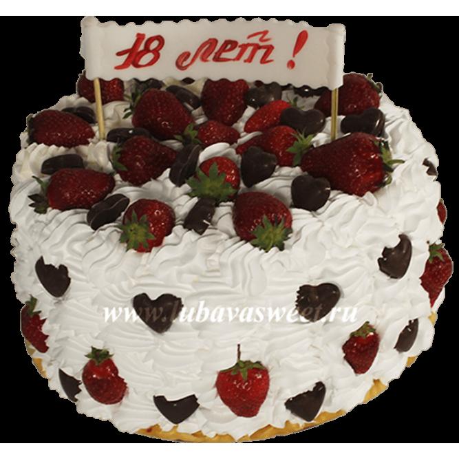 Торт с Клубникой №694