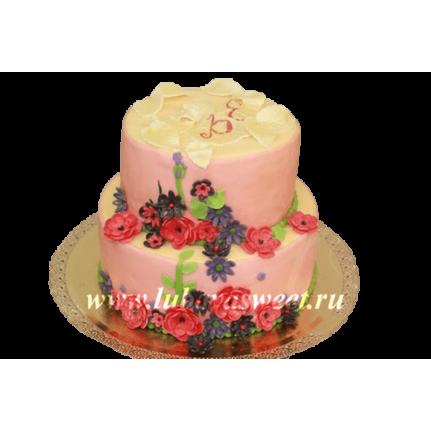 Торт с полевыми цветами №260