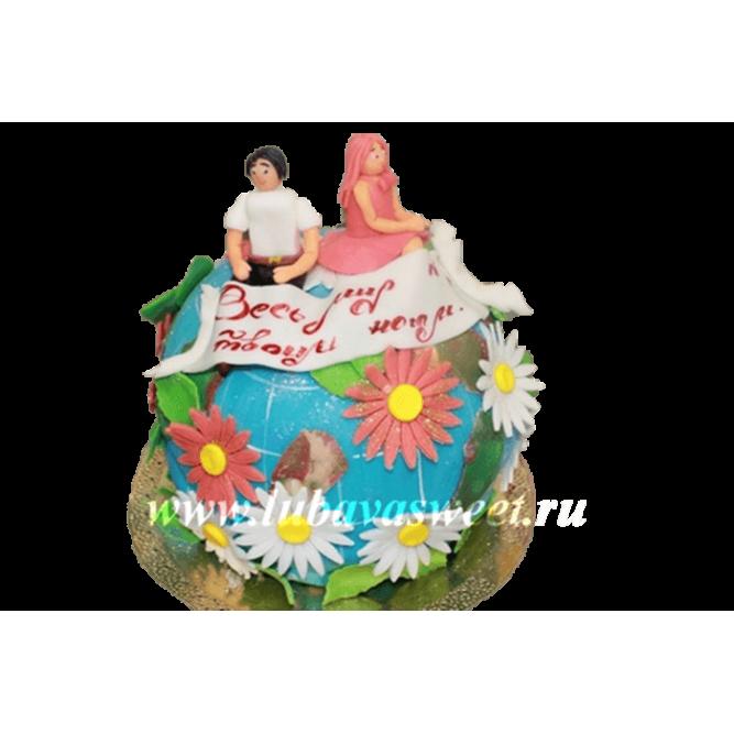 Торт праздничный весь мир у твоих ног №200