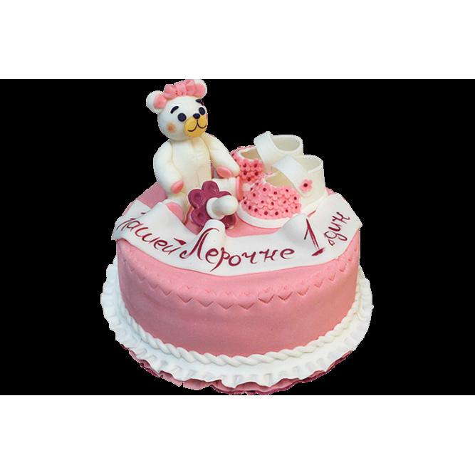 Торт на годик девочке №158