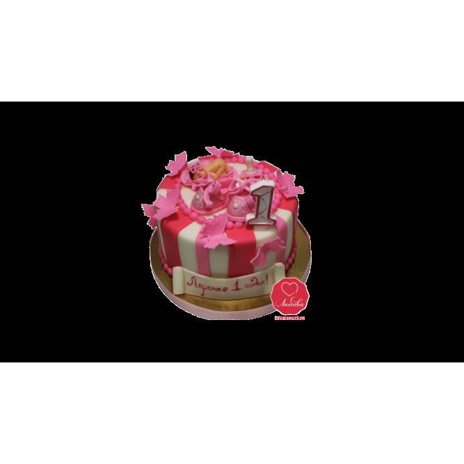 Торт на годик девочке №610