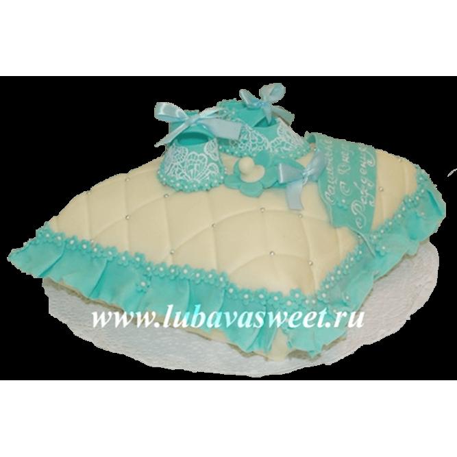 Торт на годик подушка для девочки №192