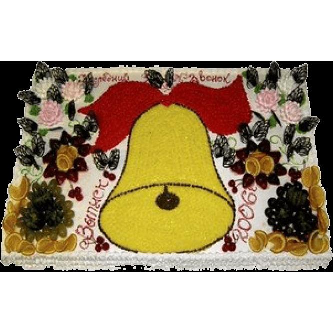 Торт Желтый колокольчик с бантиком №577