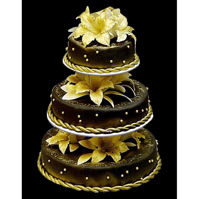 Торт свадебный Желтые лилии №323