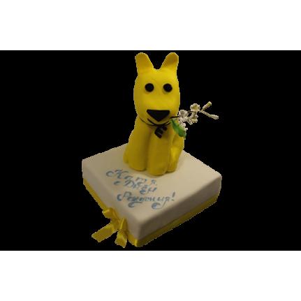 Торт Желтый щенок №458