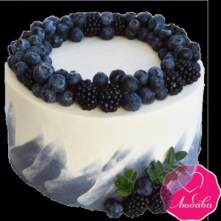 Торт праздничный с ягодами №2356