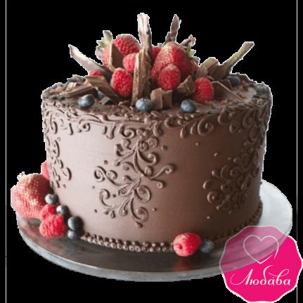 Торт праздничный с ягодами №2379