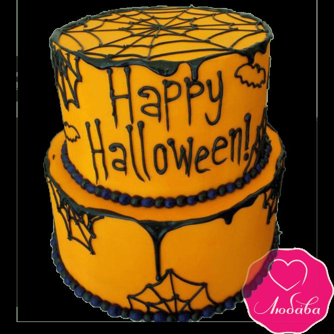 Торт праздничный на хэллоуин №2385