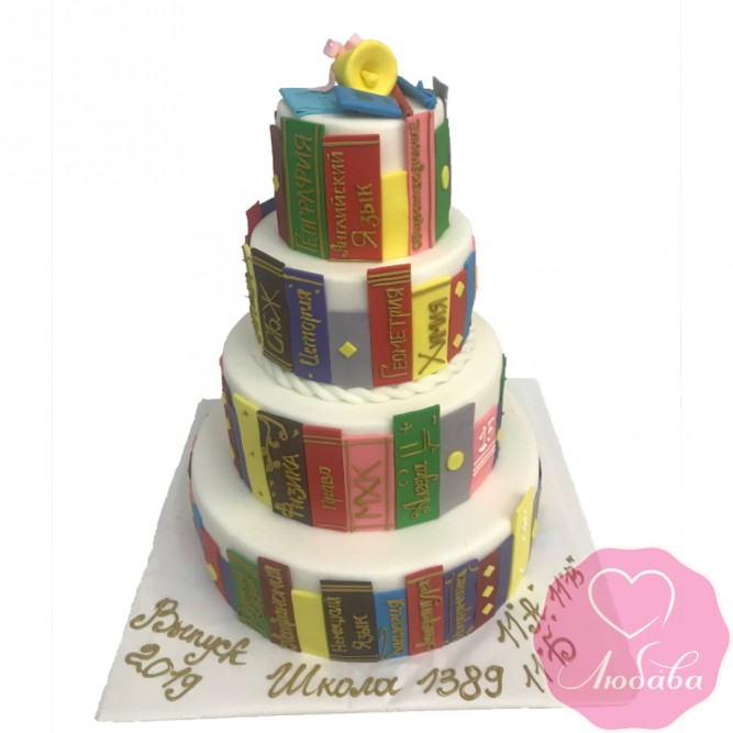 Торт праздничный на выпускной №2418