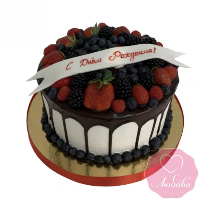 Торт праздничный ягодный №2439