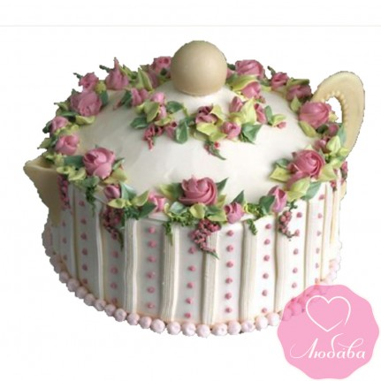Торт праздничный на фарфоровую свадьбу №2540