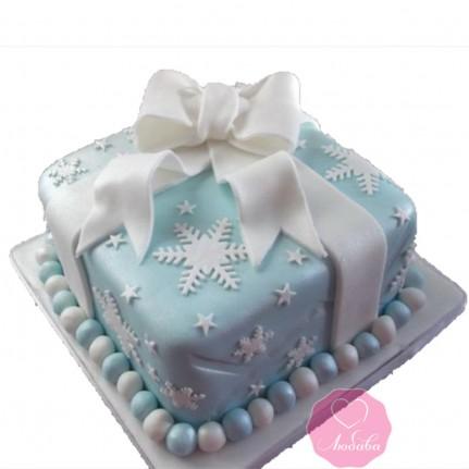 Торт праздничный новогодний подарок №2742