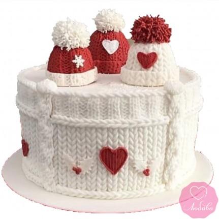 Торт праздничный зимний №2744